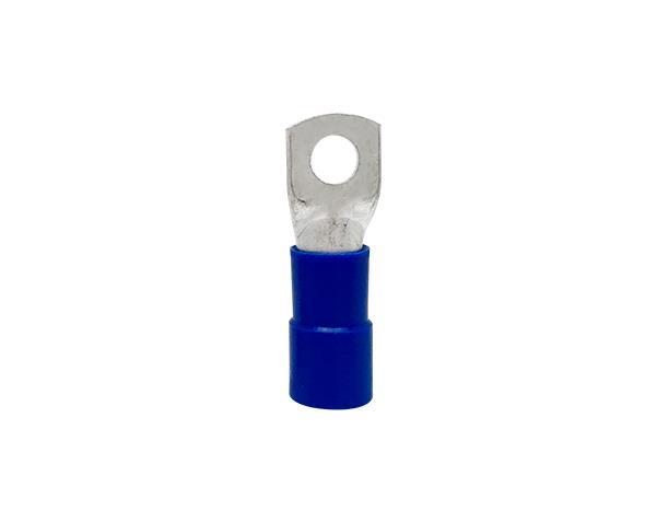 Terminal anel M10 pré isolado 70,0mm 171A, cor azul, pacote 10 unidades