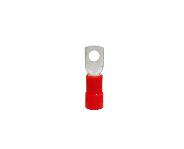 Terminal anel M8 pré isolado 35,0mm 111A, cor vermelho, pacote 20 unidades