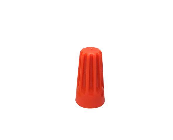 Terminal conector torção 2x2,5mm, cor laranja, pacote 50 unidades