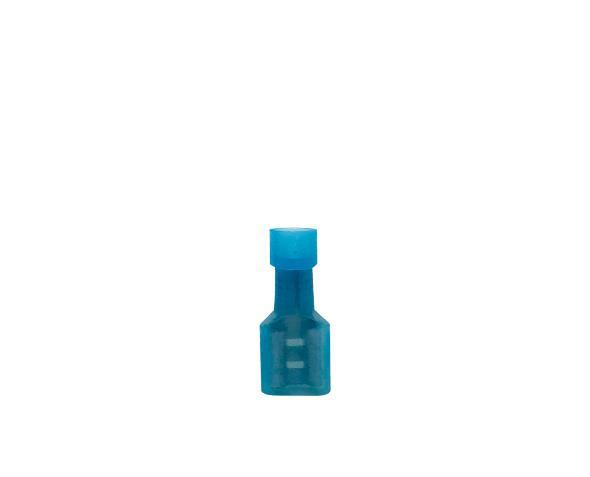 Terminal fêmea isolado 1,5 2,5mm 15A, cor azul, pacote 50 unidades
