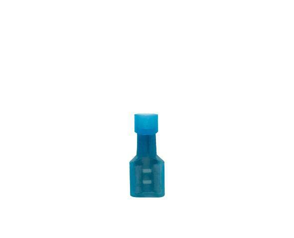 Terminal fêmea isolado 1,5 2,5mm 15A, cor azul, (pacote 50un.)