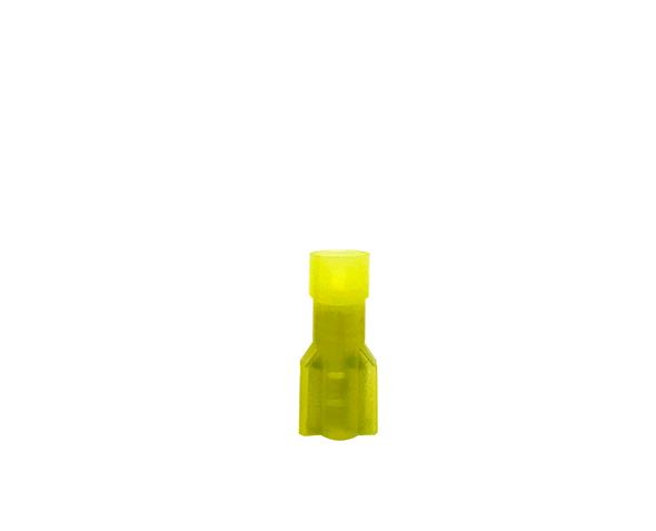 Terminal fêmea isolado 4-6mm 24A, cor amarelo, pacote 50 unidades