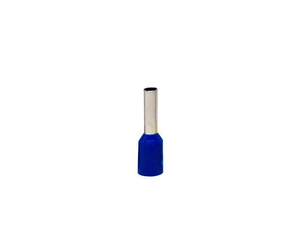 Terminal ilhós simples tubular 2,5mm 21A, cor azul, pacote 50 unidades