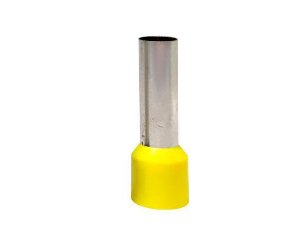 Terminal  ilhós simples tubular longo 25,0mm² 89A, cor amarelo, (pacote 50un.)