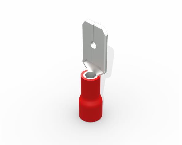 Terminal luva macho pré isolado  0,5-1,5mm 10A, cor vermelho, (pacote 50un.)