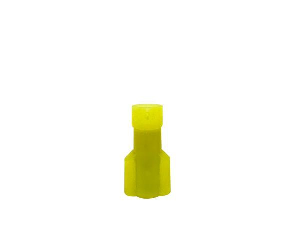 Terminal macho isolado 4-6mm 24A, cor amarelo, (pacote 50un.)