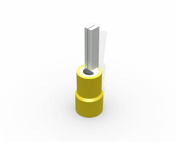 Terminal pino pré isolado25,5mm 4,0 6,0mm 48A, cor amarelo, pacote 50 unidades
