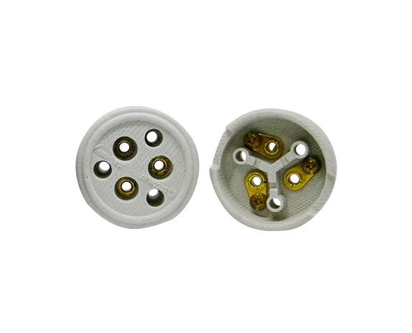 Tomada externa polarizada, porcelana, 20A, 0-380V 3 pólos, caixa (10un.)