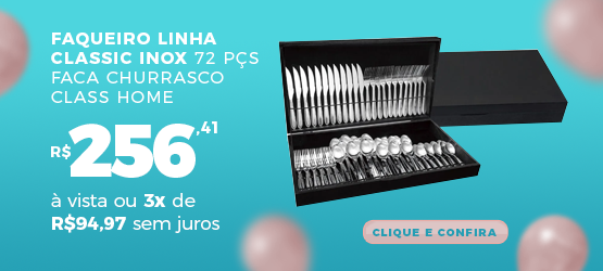 faqueiro linha classic inox 72 pçs