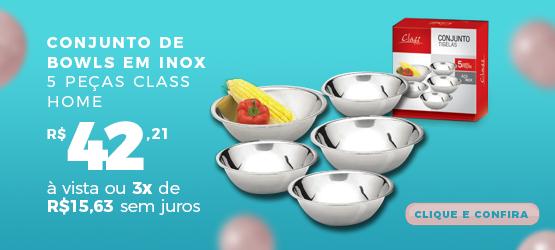 conjunto de bowls em inox 5 peças