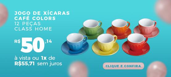 jogo de xícaras café colors