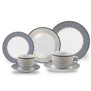 Aparelho de Jantar Porcelana Geométrico 42 Peças Class Home
