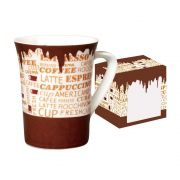 Caneca de Porcelana Fina Coffee 330ml Class Home