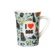 Caneca de Porcelana Fina Love Dog 330ml Class Home