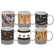 JOGO XÍCARAS DE CAFÉ COFFEE 85 ML 6 PEÇAS CLASS HOME