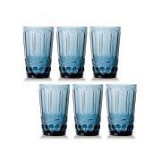 Jogo de Copos Elegance Azul 350ML vidro Class Home