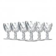 Jogo de Taças Água Diamante Clear 260ML Class Home