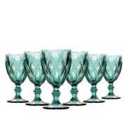 Jogo de Taças Água Diamante Tiffany 260ml Class Home