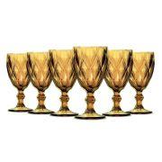 Jogo de Taças Vinho Diamante Amber 210ml Class Home
