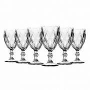 Jogo de Taças Vinho Diamante Clear 210 ml 6 peças Class Home