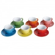 Jogo de xícaras de chá Colors 12 peças Class Home