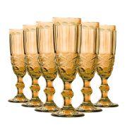 Jogo Taças Champagne Elegance Amber 140ml Class Home