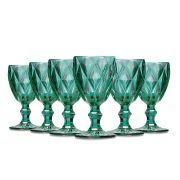Jogo Taças Vinho Diamante Tiffany 210ml Class Home