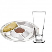 Kit Happy Hour com Copo Lexington para Chopp e Petisqueira com repartições - Cristar | Class Home