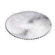 Prato de Bolo Espiral 30 cm Vidro Class Home