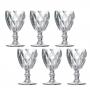 Jogo de Taça Vinho Diamante 6 peças Clear Class Home 210 ml Class Home