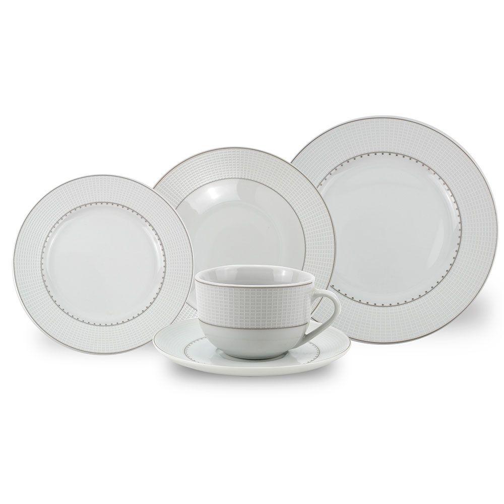 Aparelho de Jantar Porcelana Renda 30 Peças Class Home