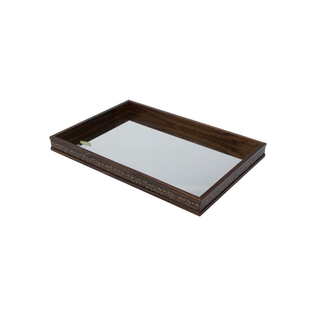 Bandeja Madeira c/ espelho Coquinho Rojemac 41x31x5