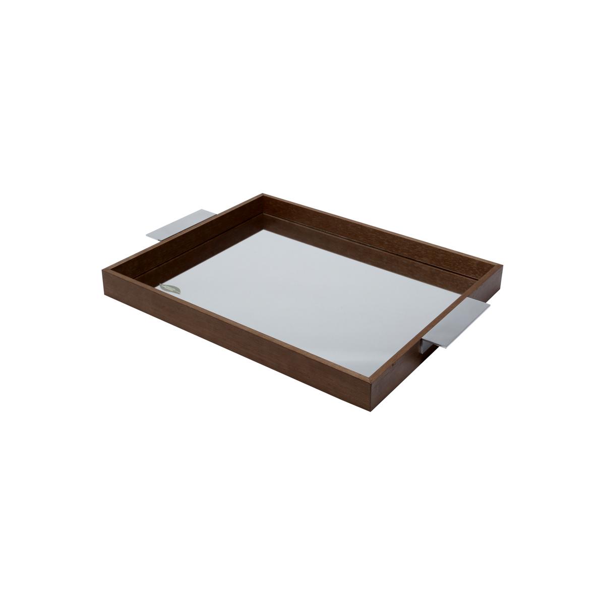 Bandeja Madeira C/ Espelho Naturals 40X30X5 cm