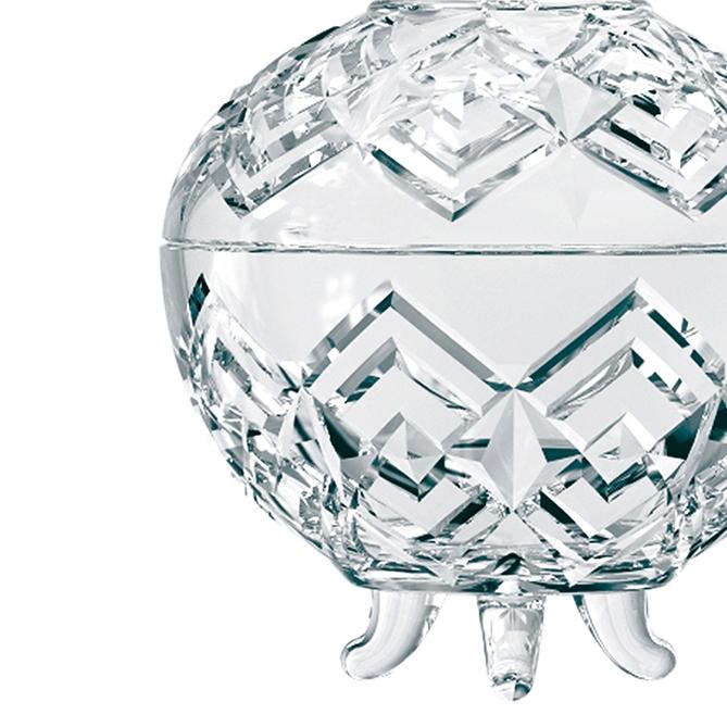 Bomboniere Vidro com Pé Clear 20 cm Class Home