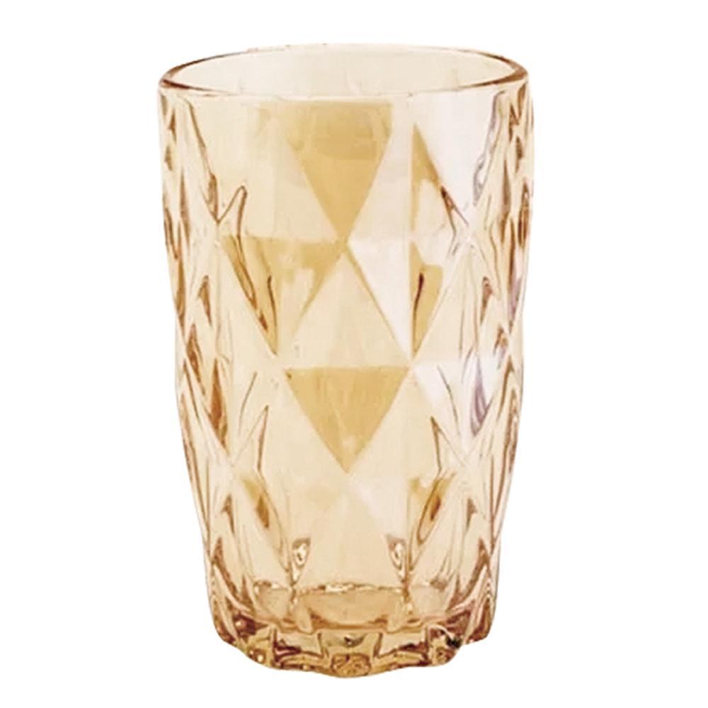 Conjunto de Copos Diamante Amber Metalizada 350ml 6pçs