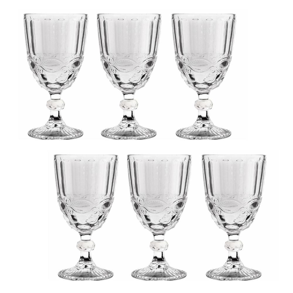Conjunto de Taças de Vidro Madalena 260ml 6 pçs Class Home