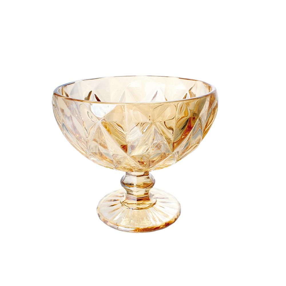 Conjunto Taças Coquetel Diamante Amber Metalizada 310ml 6pçs
