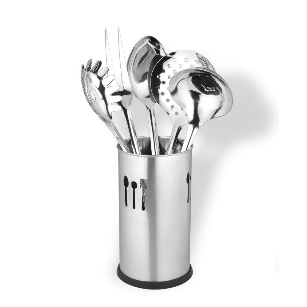 Conjunto Utensílios para Cozinha de Inox 6 peças CLASS HOME