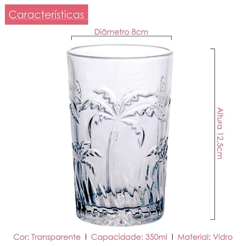 Copo de Água Palm Tree 350ml Casamiga