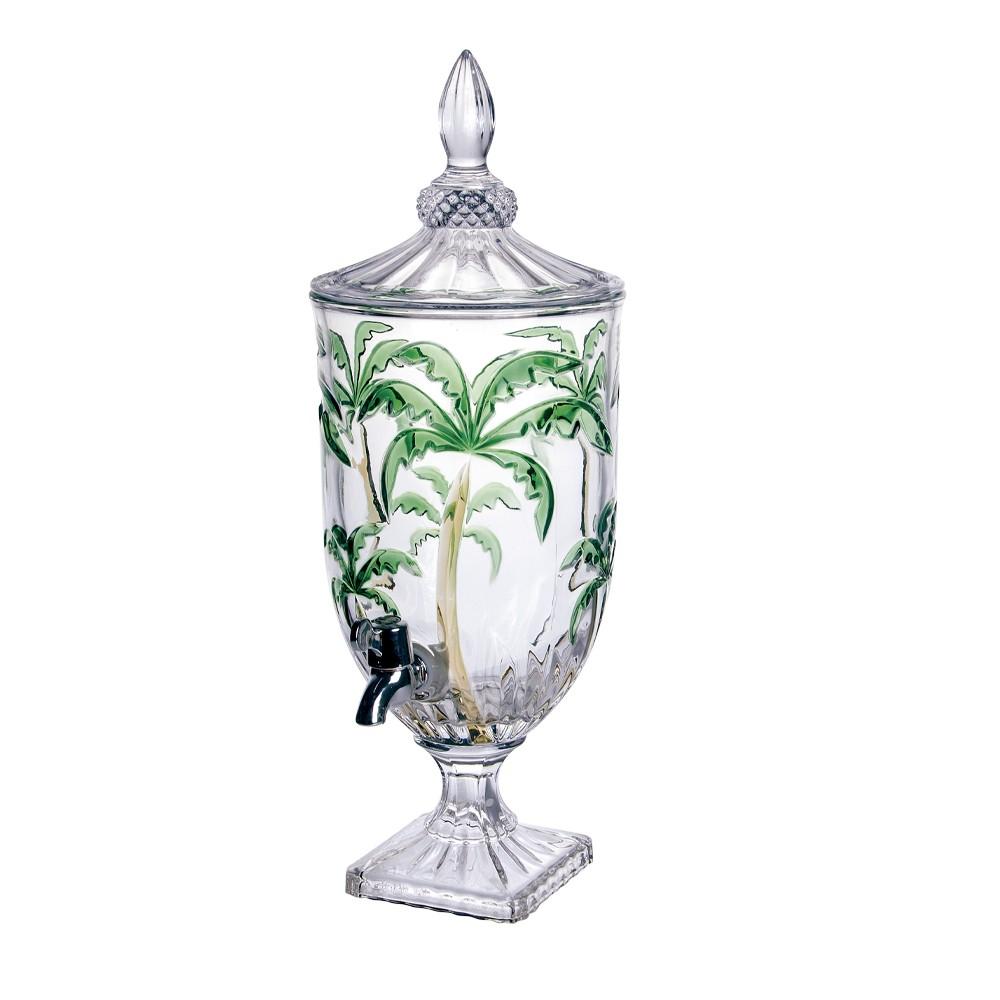 Dispensador de Bebidas em Cristal Palm Tree Colors com capacidade para 4,5 Litros