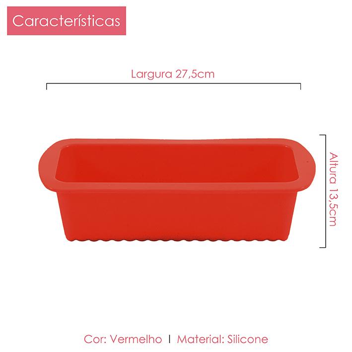 Foma de Silicone retangular 27x13 cm Class Home