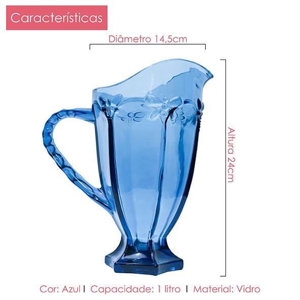 Jarra Libélula Azul 1 litro Class Home