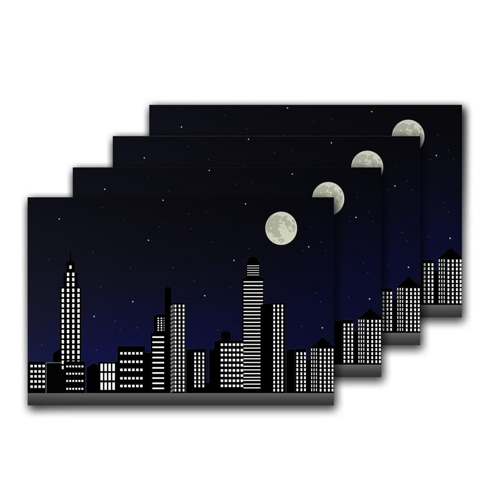 Jogo Americano Cidade 4 Peças