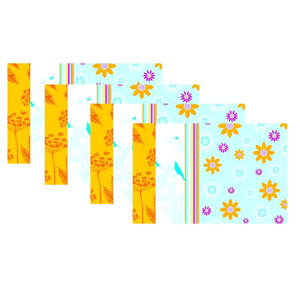 Jogo Americano Flor Colorida 4 pçs
