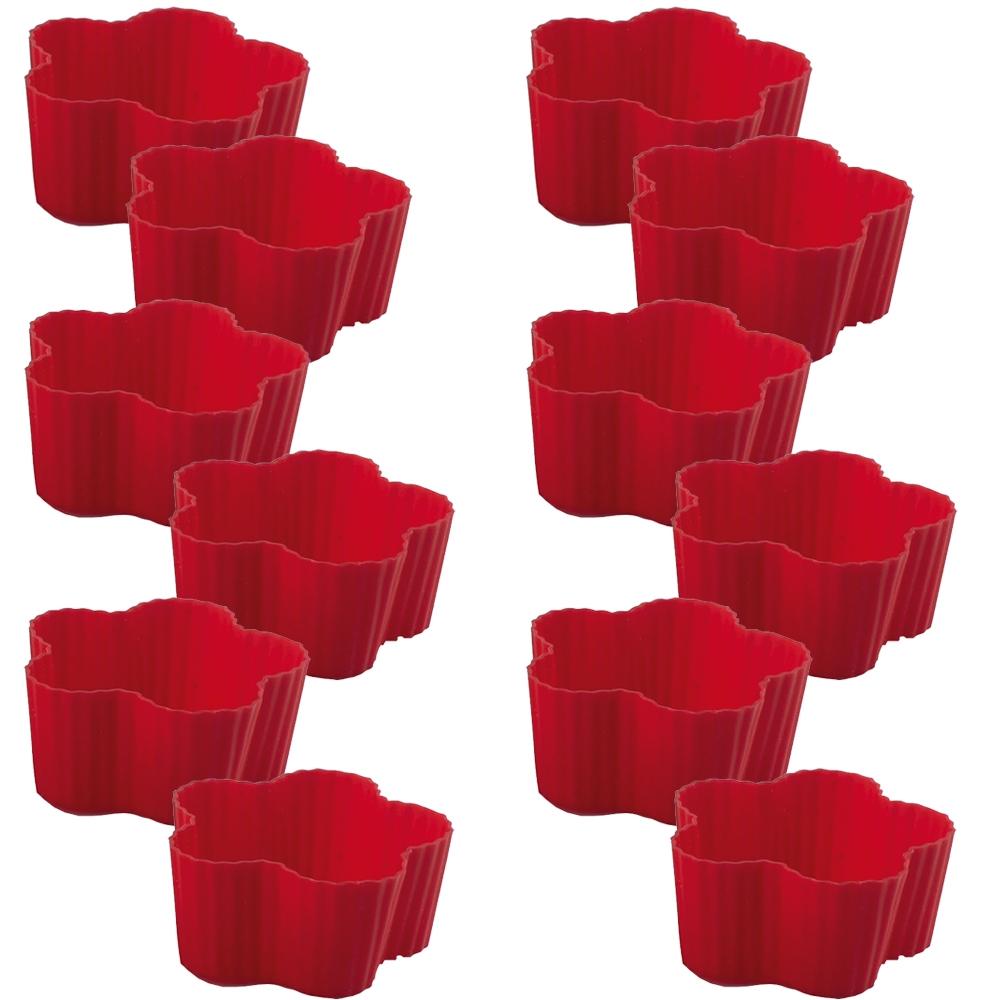 Jogo de 12 Formas Flor para Confeitaria de Silicone Class Home