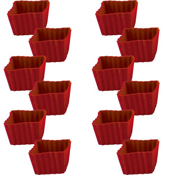 Jogo de 12 Formas Quadradas para Confeitaria de Silicone Class Home