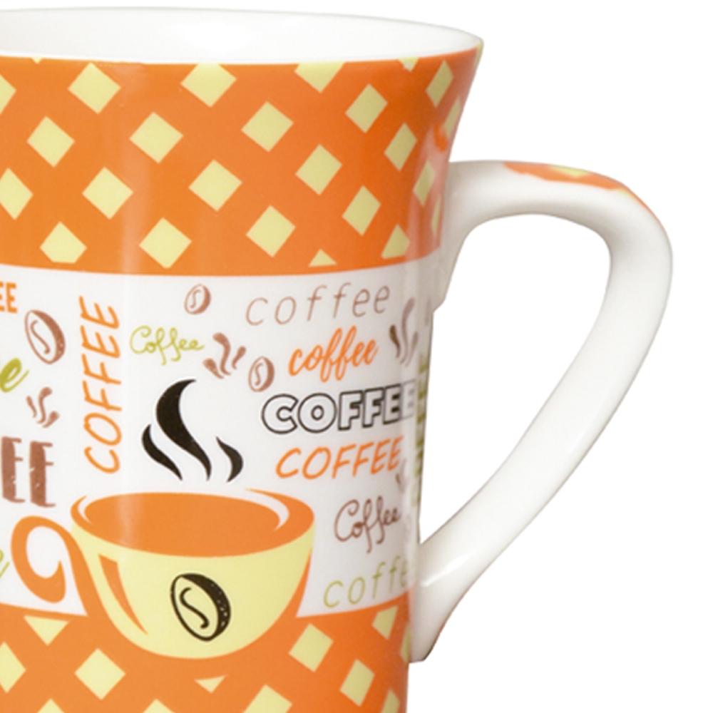 Jogo de Canecas Porcelana Fina Coffee 330ml 4 peças Class Home