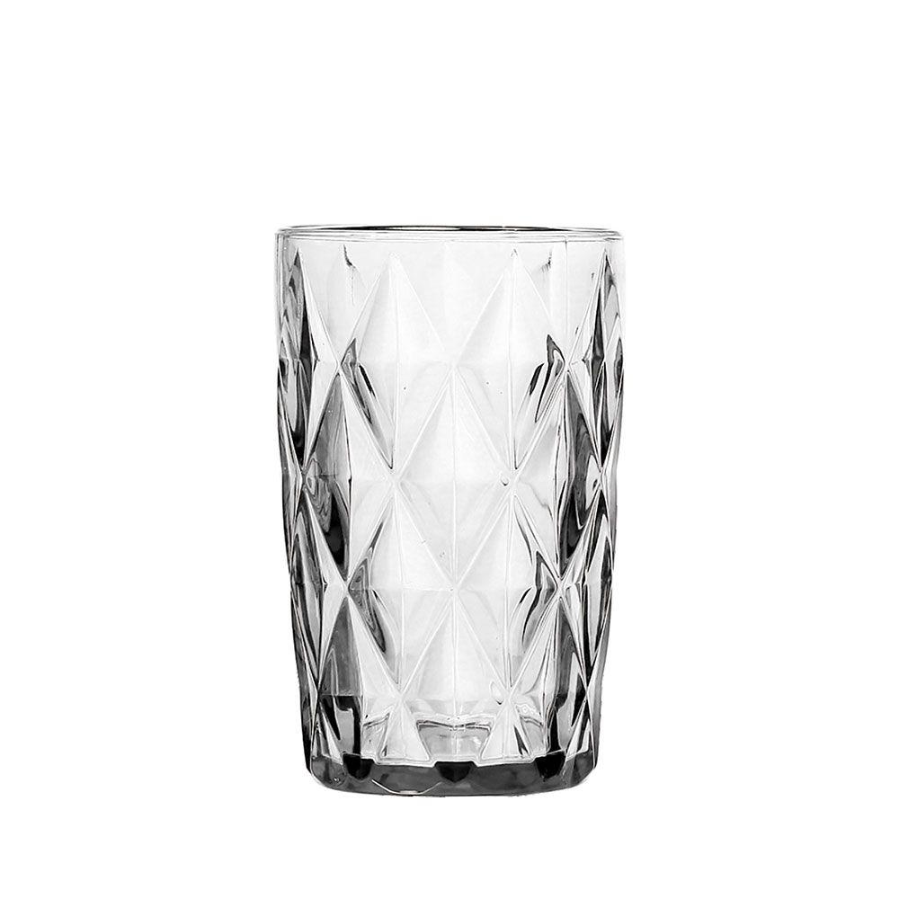 Jogo de Copos Diamante Clear 350 ml de Vidro Class Home