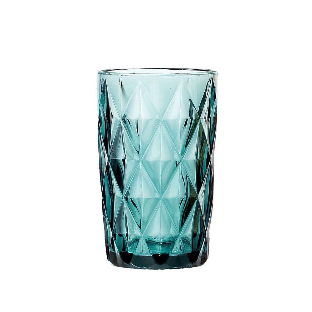 Jogo de Copos Diamante Tiffany 330ml Vidro Class Home