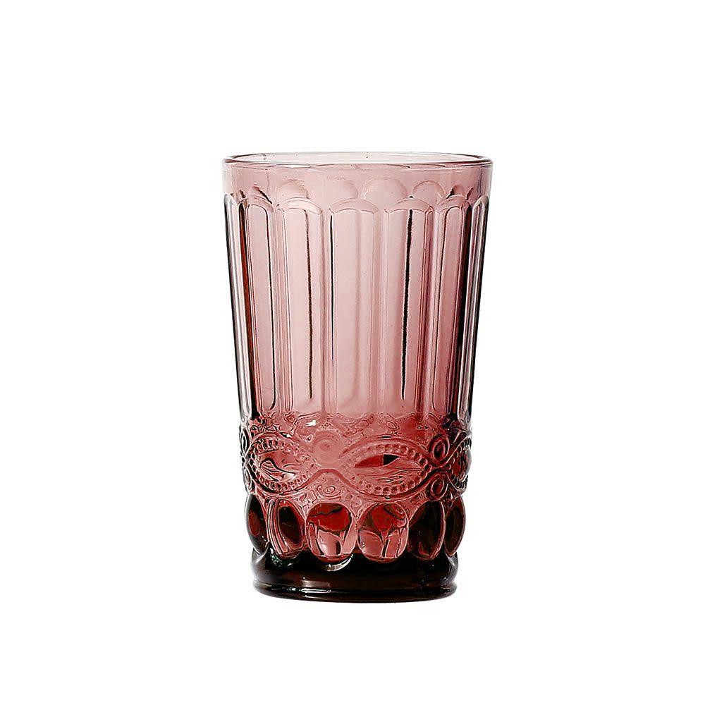 Jogo de Copos Elegance Lilás 350ML vidro Class Home